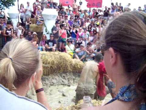 Secret Garden Party 2009 – Bearded Kitten Mud Wrestling pt1 - YouTube thumbnail